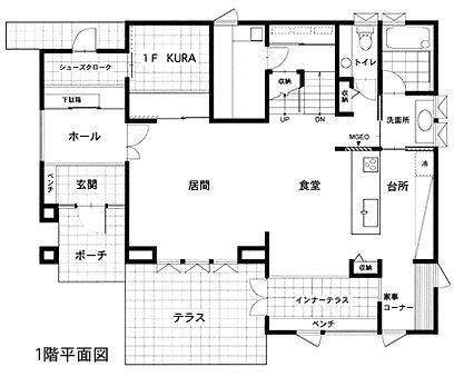 ミサワホーム 蔵のある家間取り図② 1F
