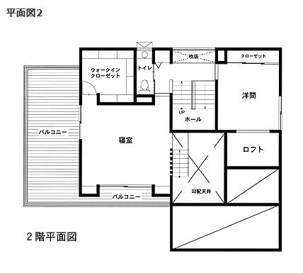 ミサワホーム 蔵のある家間取り図② 2F