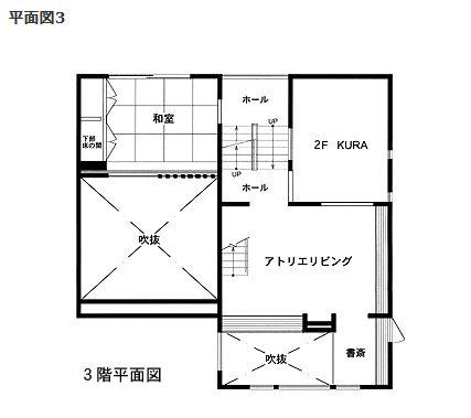 ミサワホーム 蔵のある家間取り図② 3F
