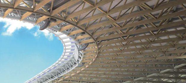 新国立競技場の屋根部分