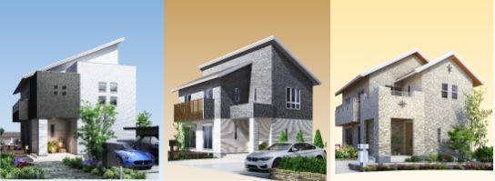 桧家住宅 外観スタイル、外壁・内装カラーを選択