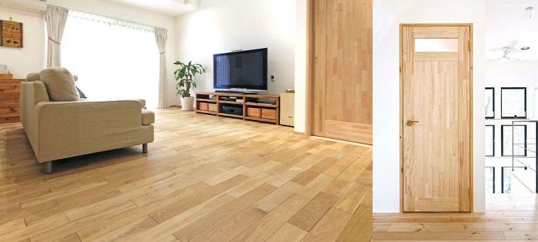 無添加住宅 無垢材の床や建具